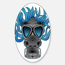 Gas Mask Blue @ eShirtLabs Oval Decal