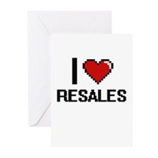 I Love Resales Digital Design Greeting Cards