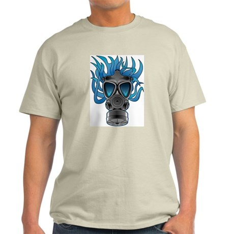 Gas Mask Blue @ eShirtLabs Light T-Shirt