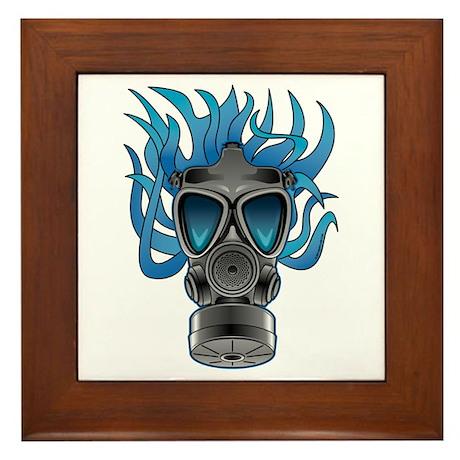 Gas Mask Blue @ eShirtLabs Framed Tile