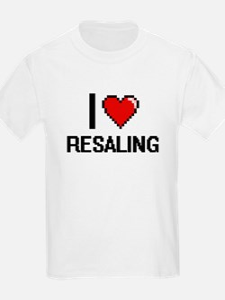 I Love Resaling Digital Design T-Shirt