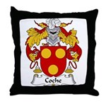 Coche Family Crest Throw Pillow