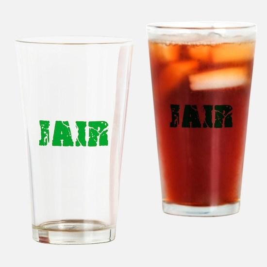 Jair Name Weathered Green Design Drinking Glass