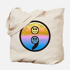 Semicolon Have Another Day Tote Bag