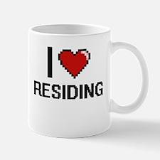 I Love Residing Digital Design Mugs