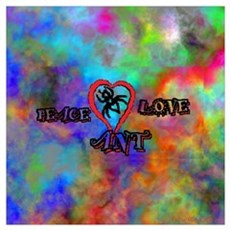 peace ant love tie dye Canvas Art