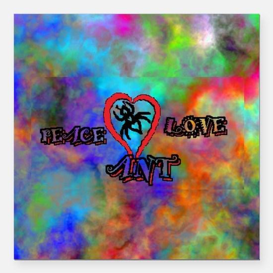 "peace ant love tie dye Square Car Magnet 3"" x 3"""