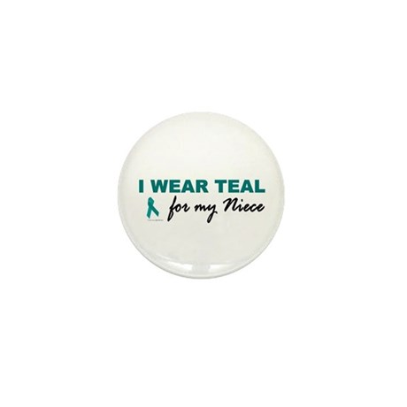 I Wear Teal For My Niece 2 Mini Button