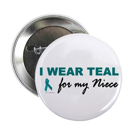 """I Wear Teal For My Niece 2 2.25"""" Button (100 pack)"""