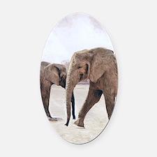 The Elephants Oval Car Magnet