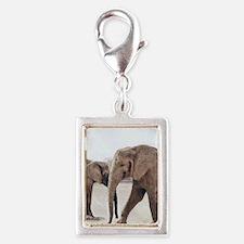The Elephants Silver Portrait Charm