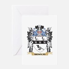 Nicholas Coat of Arms - Family Cres Greeting Cards