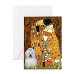 The Kiss / Coton Greeting Card