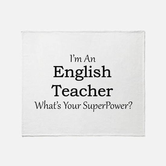 English Teacher Throw Blanket