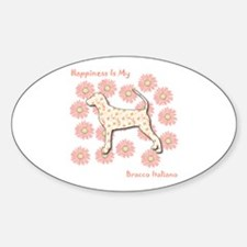 Bracco Happiness Oval Decal