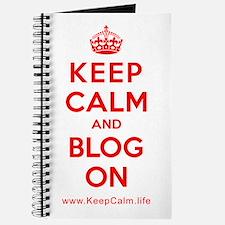 Cute Keep calm and blog on Journal