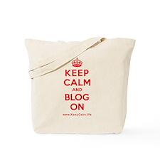 Cute Keep calm and blog on Tote Bag