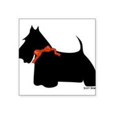 "Cute Scottish terrier dog breed Square Sticker 3"" x 3"""