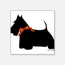 """Cute Scottie dog Square Sticker 3"""" x 3"""""""