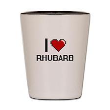 I Love Rhubarb Digital Design Shot Glass