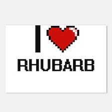 I Love Rhubarb Digital De Postcards (Package of 8)