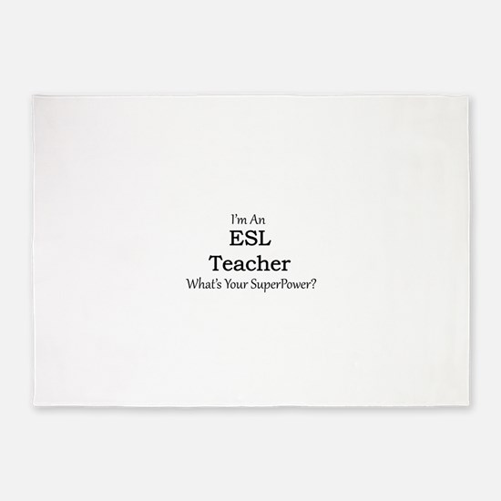 ESL Teacher 5'x7'Area Rug