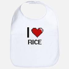 I Love Rice Digital Design Bib