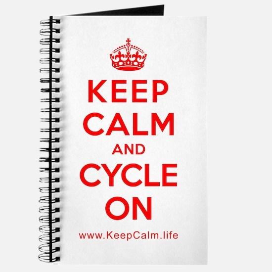 Cool Keep calm cycle Journal