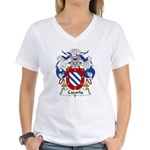 Cazorla Family Crest Women's V-Neck T-Shirt