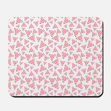 Pretty Pink Flowers Pattern Mousepad