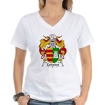 Caviedes Family Crest Women's V-Neck T-Shirt