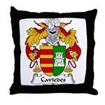 Caviedes Family Crest Throw Pillow