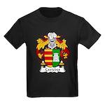Caviedes Family Crest Kids Dark T-Shirt