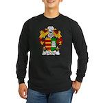 Caviedes Family Crest Long Sleeve Dark T-Shirt