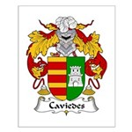 Caviedes Family Crest Small Poster