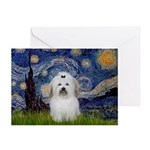 Starry Night Coton de Tulear Greeting Card