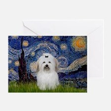 Starry Night Coton de Tulear Greeting Card