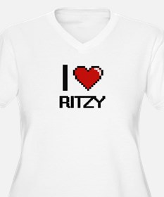 I Love Ritzy Digital Design Plus Size T-Shirt