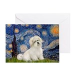 Starry / Coton de Tulear (#7) Greeting Card