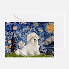 Starry / Coton de Tulear (#7) Greeting Card