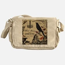 Modern vintage Halloween Messenger Bag