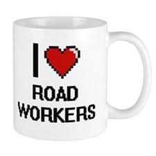 I Love Road Workers Digital Design Mugs