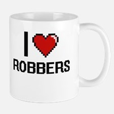 I Love Robbers Digital Design Mugs