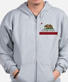 California Republic bear Zip Hoodie