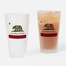 California Republic bear Drinking Glass