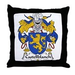 Castellblanch Family Crest Throw Pillow