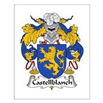 Castellblanch Family Crest Small Poster