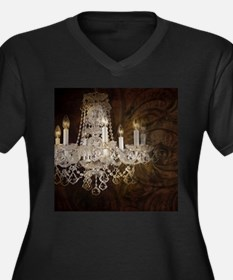 shabby chic vintage chandelier Plus Size T-Shirt