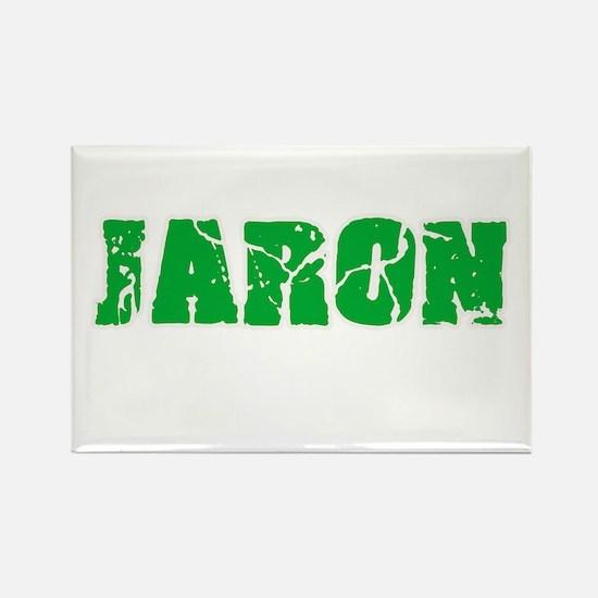 Jaron Name Weathered Green Design Magnets