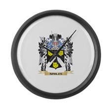 Nobles Coat of Arms - Family Cres Large Wall Clock